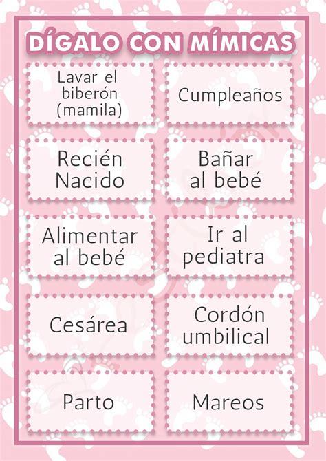 Juegos De Baby Shower by D 237 Galo Con M 237 Micas Juegos Para Baby Shower Para Imprimir