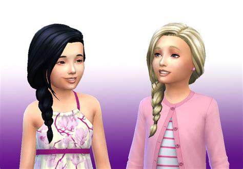 side braid custom content mystufforigin braid side for girls sims 4 hairs http