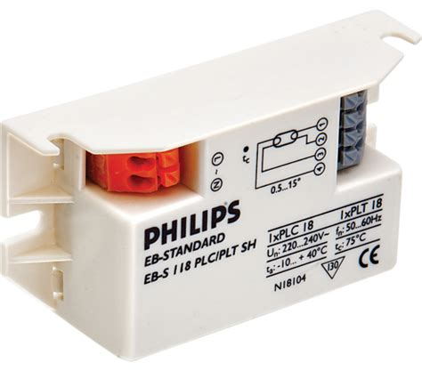 Ballast Trafo Tl Orisinil Philips ebs 118 230 sh micropower electronic ballast for tl pl s t c ls india philips lighting