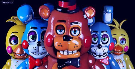 5 nights at freddy s toys five nights at freddy s 2 banner sfm remake by