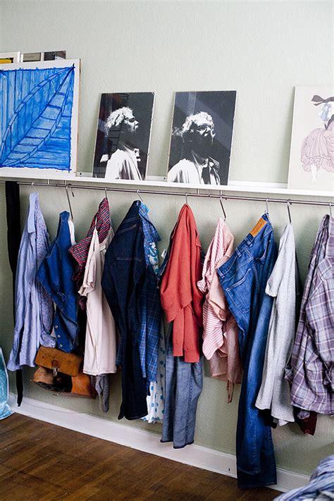 entry way hang clothes closet