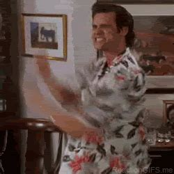 Ace Ventura Bathroom Gif Excited Jim Carrey Gif Find On Giphy
