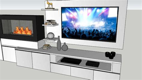 parete camino e tv parete soggiorno tv con camino bioetanolo 3d warehouse