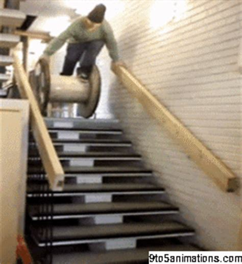 wooden spool stairs fail gif toanimationscom hd wallpapers gifs backgrounds images