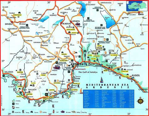 antalya map tourist attractions antalya city centre car hire visit turkish riviera in a