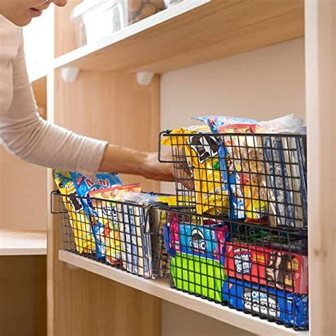 gorgeous stackable xxl wire baskets  pantry storage