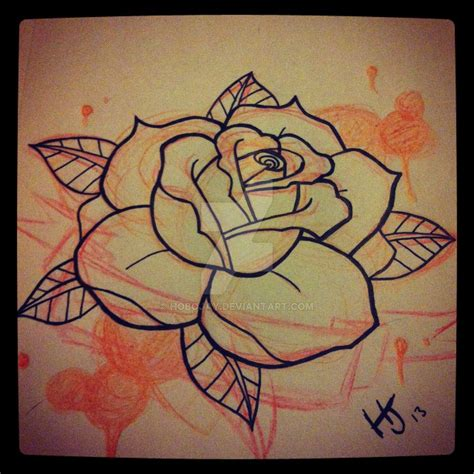 rose tattoos stencils a better by hobojay on deviantart