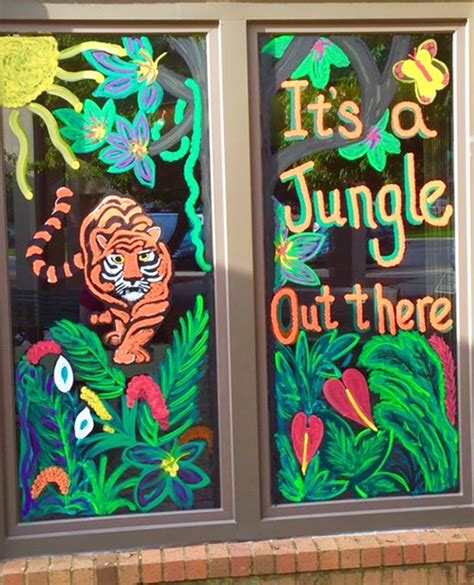theme windows 7 jungle st john s wins window decorating contest albert lea tribune