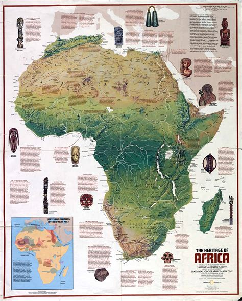 africa map features mission discover sub saharan africa learning team 3