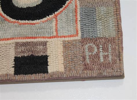 whimsical rugs whimsical cats mounted hooked rug at 1stdibs