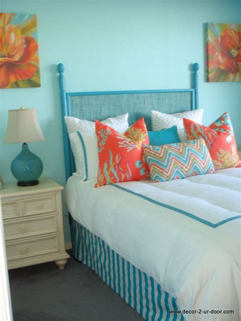 aqua and coral bedding coral and aqua custom bedding dream home pinterest