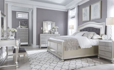 bedroom silver coralayne silver bedroom set from ashley b650 157 54 96 coleman furniture