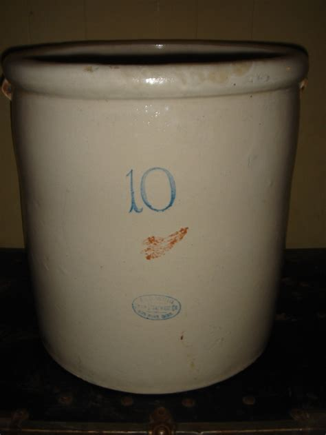 10 gallon ceramic crock wing 10 gallon crock antique stoneware glassware