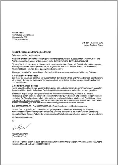 Anfrage Brief Beispiel Verk 228 Ufe Steigern Kundenanschreiben Vom Texter