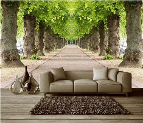 custom wall mural aliexpress buy 3d wallpaper custom mural non woven 3d room wallpaper forest road 3 d space