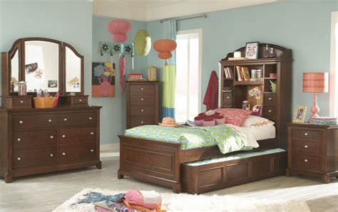 bookcase bedroom set impressions classic clear cherry youth bookcase bedroom