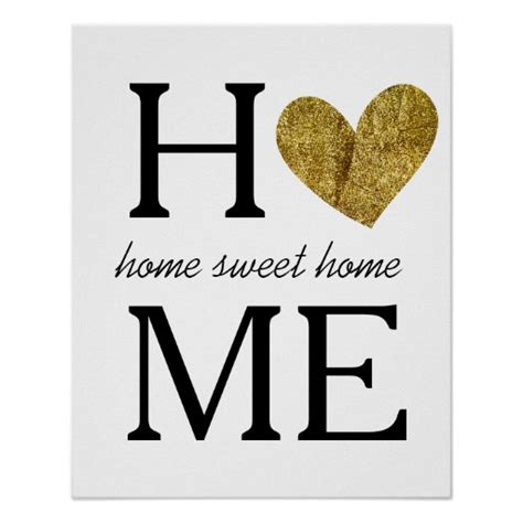home sweet home poster zazzle