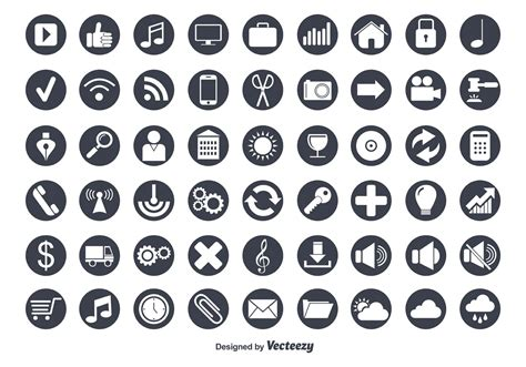 Icon Set by Flat Vector Icon Set Free Vector Stock