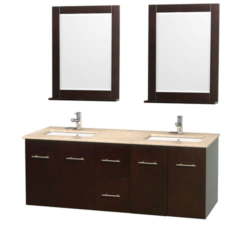 ivory bathroom vanity wyndham collection wcvw00960desivunsm24 centra 60 inch