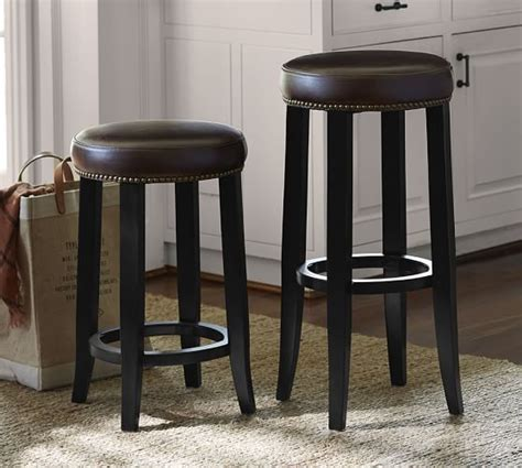 Pottery Barn Backless Counter Stools by Kass Backless Barstool Pottery Barn
