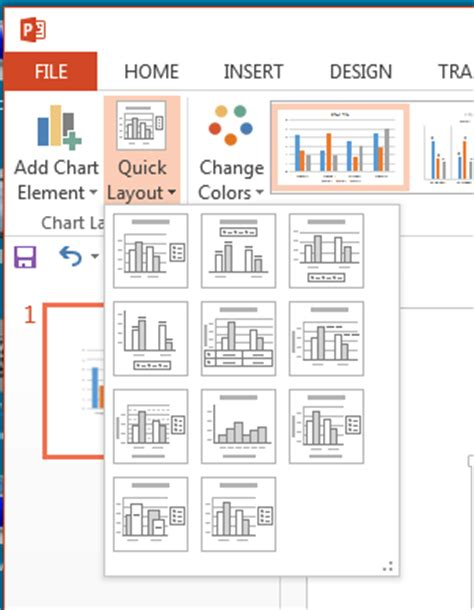 layout for powerpoint 2013 quick layouts for charts in powerpoint 2013 for windows