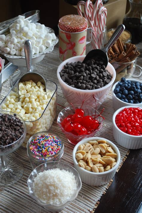Chocolate Bar Toppings inspired entertaining a diy chocolate bar