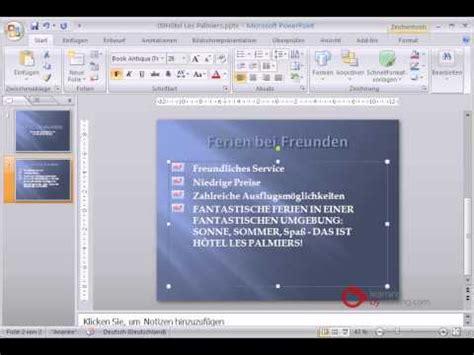 tutorial powerpoint deutsch powerpoint pr 228 sentation tutorial deutsch gross