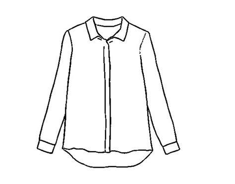 camisa y corbata para colorear dibujo de camisa de seda para colorear dibujos net