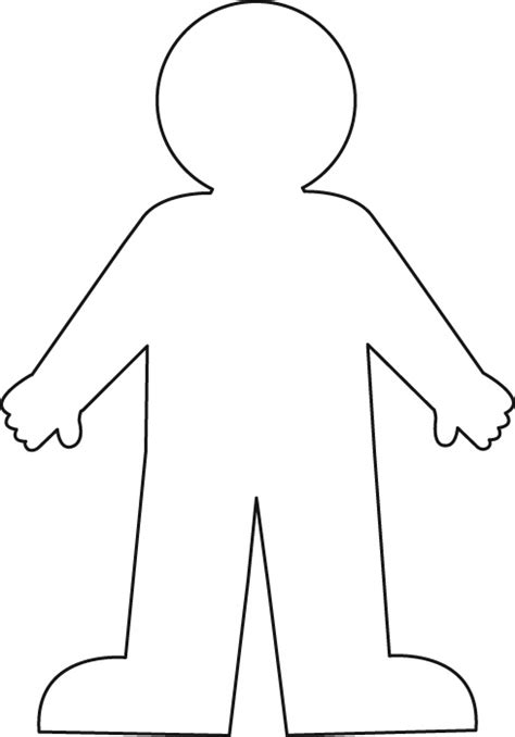 cut out person template all about me catherwood s castle