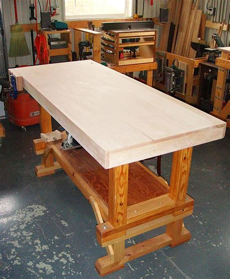 work bench top contentment by design woodworking projects workbench