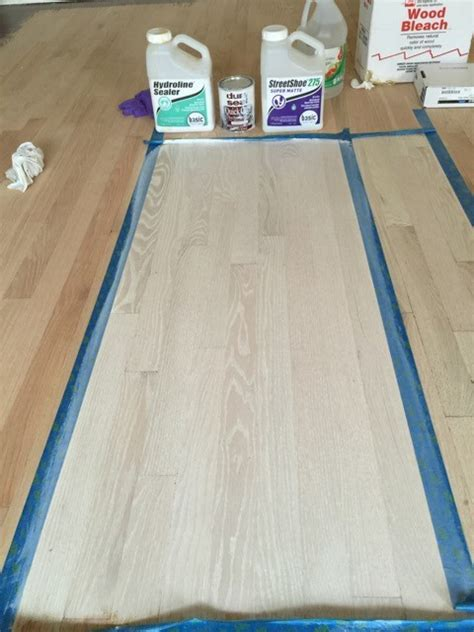 Bleaching Hardwood Floors by Lighten Up Bleaching Hardwood Floors Alexandria Stylebook