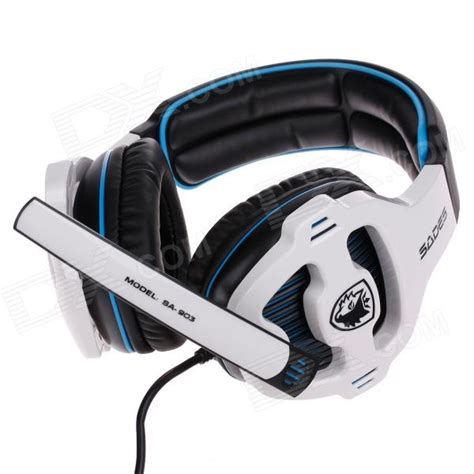 Murah Earcup Sades 903 Blue sades sa 903 auriculares est 233 reo multifunci 243 n con micr 243 fono para ordenador negro blanco azul