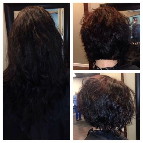 stacked perm bob haircuts before and after stacked curly bob hairstyles