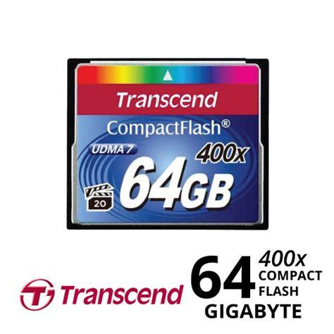 Transcend Compact Flash 16gb 400x jual transcend compactflash 400x 64gb harga dan spesifikasi