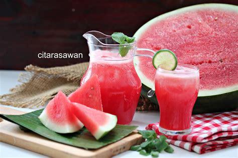 jus tembikai watermelon juice resepi terbaik