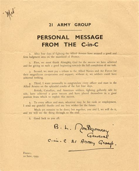 Message To The by Wwii Letters To Wilma 10 June 1944