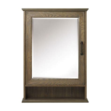 framed mirror medicine cabinet home decorators collection walden 24 in w x 34 in h
