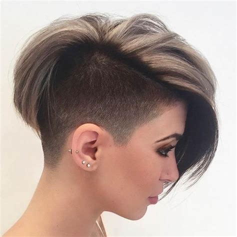 20 shaved hairstyles for women side shave short 2018 popular short haircuts with one side shaved