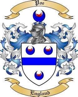 poe family crest  england   tree maker
