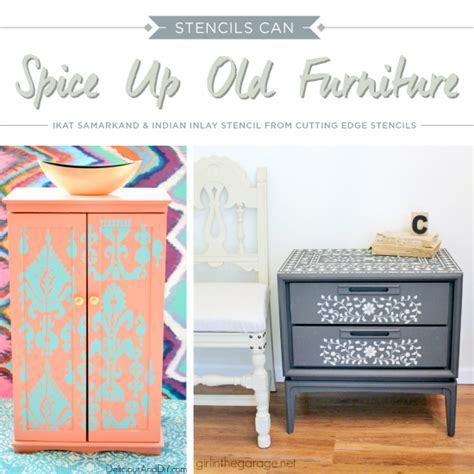 Stencils For Furniture Painting Stencils Can Spice Up Furniture 171 Stencil Stories