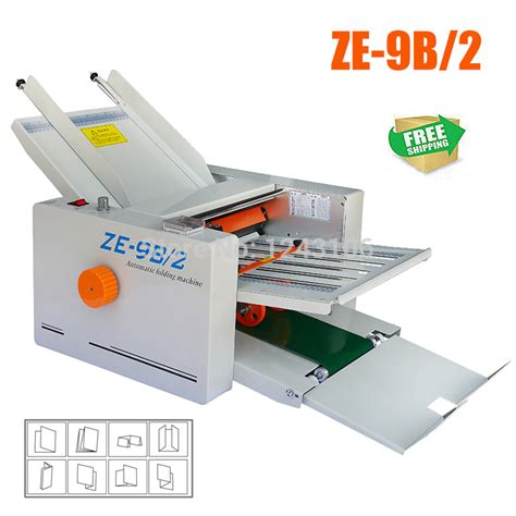 Industrial Paper Folding Machine - ze 9b2 commercial paper folding machine poster coated