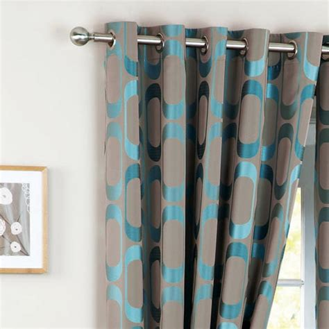 teal and silver curtains curtina osbourne woven jacquard eyelet lined curtains ebay