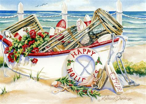 holiday boat box   nautical christmas cards  lpg   ebay