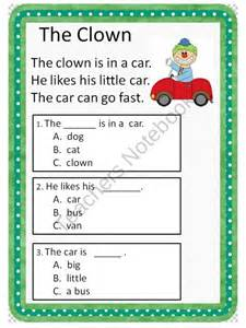 Kindergarten Questions And Answers by Reading Comprehension Passages Guided Reading Level C From Common Connection On