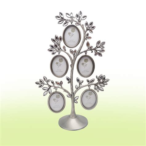 crystal home decor wholesale new fashion family crystal tree photo frame lovely diy