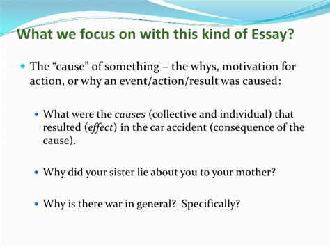 Cause And Effect Essay Conclusion by Cause And Effect Essays