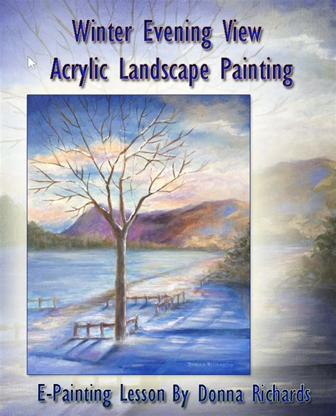 Landscape Lesson Landscape Painting Lessons Winter Landscape In Acrylic