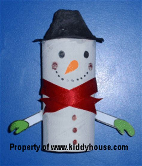 Toilet Paper Roll Snowman Craft - crafts for toilet roll snowman craft