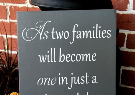 Wedding Quotes With Family by 11 Quot X 23 Quot Wooden Wedding Sign As Two Families Will