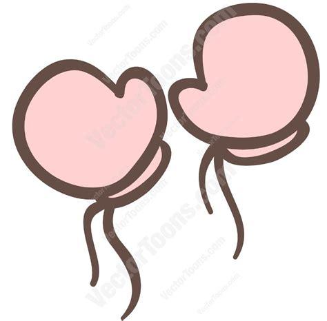 Pink baby mittens cartoon clipart vector toons